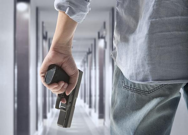 man holding gun
